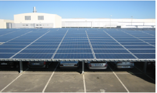 Solar installations on roof and canopies: 1,2 MWp (Sevilla)