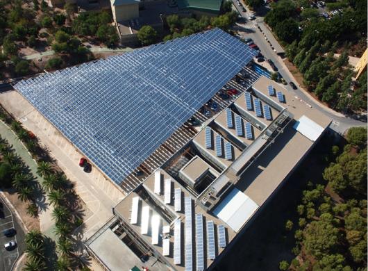 Solar installations on university campus: 2,4 MWp (Murcia)