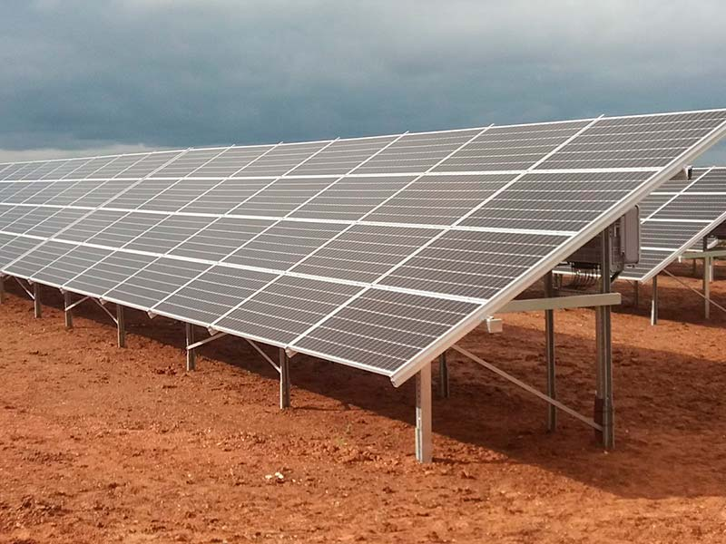 Solar plant installation: 450 kWp (Extremadura)